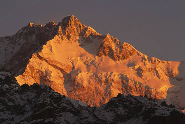 Photograph - Dawn On Kangchenjunga Talung by Colin Monteath