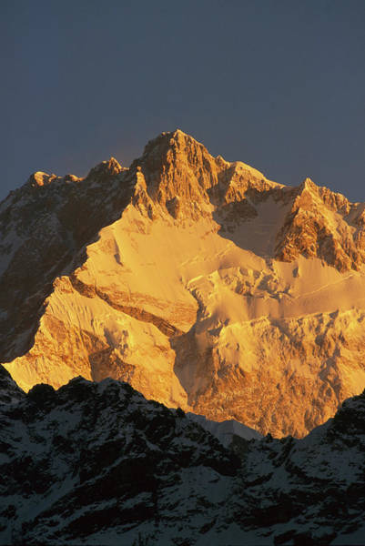 Photograph - Dawn On Kangchenjunga Talung Face by Colin Monteath