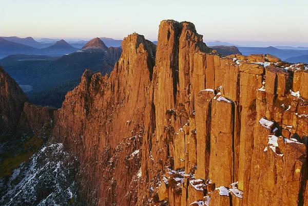 Dixon Photograph - Dawn On Mount Geryon Tasmania by Grant  Dixon