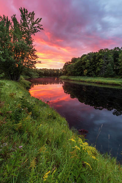 Wall Art - Photograph - Dawn On The Mattawamkeag River Flowing by Jerry and Marcy Monkman