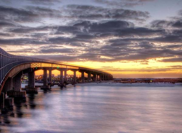 Photograph - Dawn On The Perdido Bridge by Michael Thomas