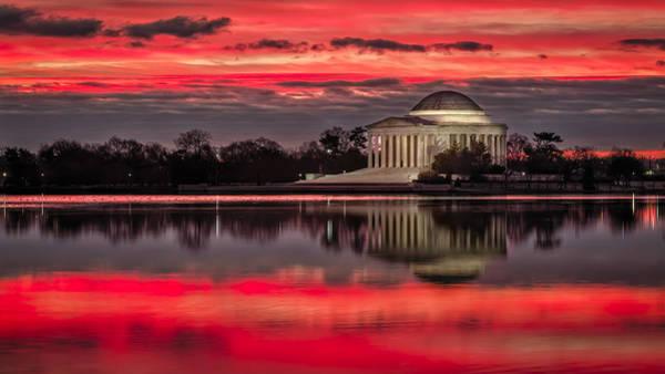 Wall Art - Photograph - Dawn Over Jefferson Memorial by Eduard Moldoveanu