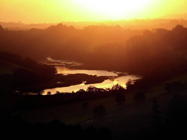 Rising Sun Photograph - Dawn Over The River Dart by Cordelia Molloy/science Photo Library
