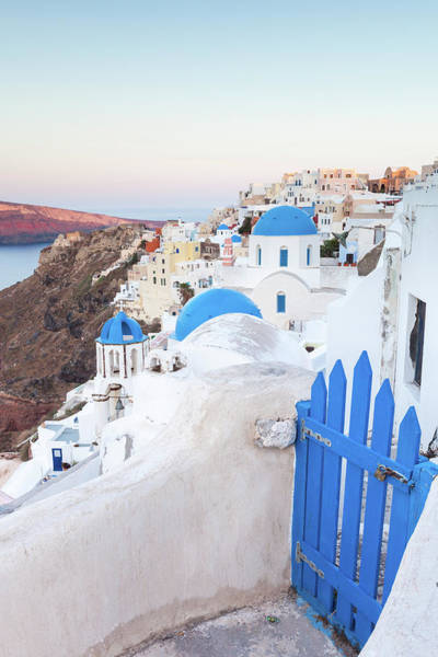 Village Gate Photograph - Dawn Over The Village Of Oia by Matteo Colombo