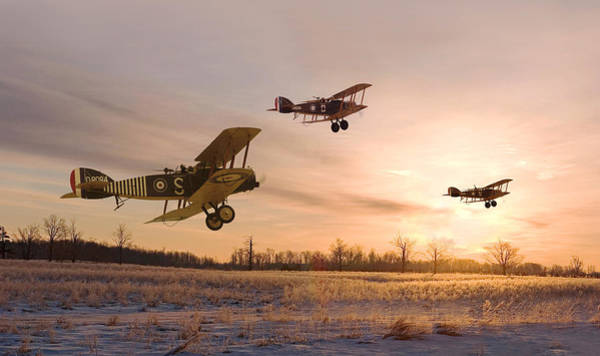 World War 1 Digital Art - Dawn Patrol by Pat Speirs