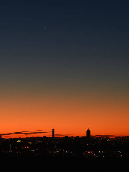 Photograph - Dawn Sky Over Boston by Ken Stampfer