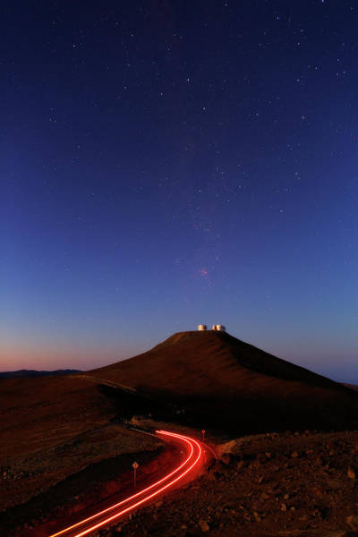 One Way Road Photograph - Dawn Sky Over Paranal Observatory by Babak Tafreshi