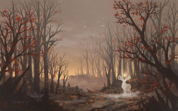 Forest Spirit Wall Art - Digital Art - Dawn Spirit by Cassiopeia Art