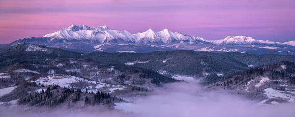 Purple Haze Photograph - Dawn - Tatra Mountains by Krzysztof Mierzejewski