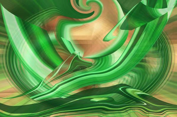 Digital Art - Dawn - The Emerald World by rd Erickson