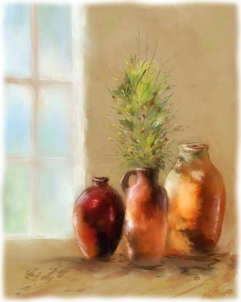 Olives Mixed Media - Dawns Early Light by Colleen Taylor