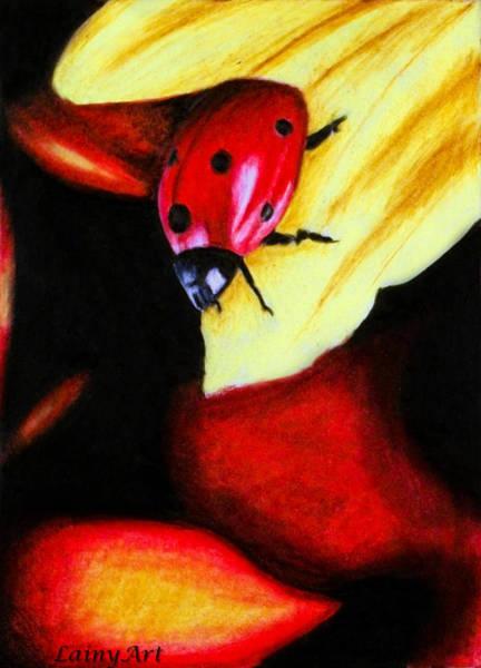 Lady Bug Drawing - Day 64 Aceo by Alaina Ferguson