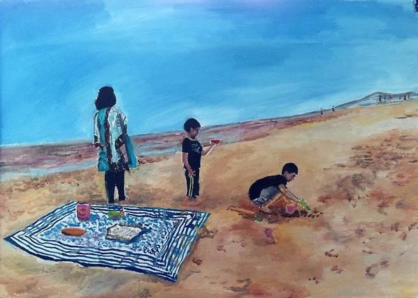 Mumbai Painting - Day At The Beach by Aditi Bhatt