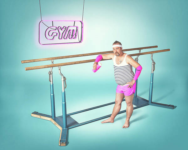 Pastel Photograph - Day At The Gym by Petri Damst?n