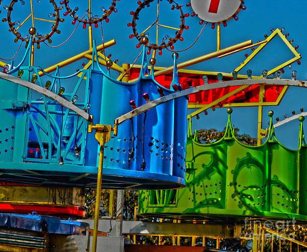 Digital Art - Day Carnival Ride  by Lesa Fine