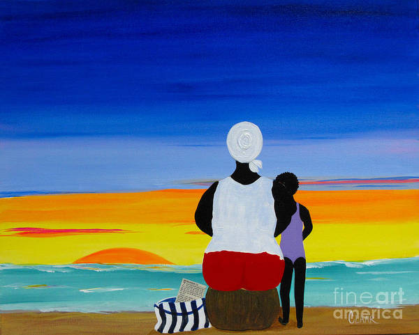 Wall Art - Painting - Day Clean Dawn With My Angel by Samantha Claar