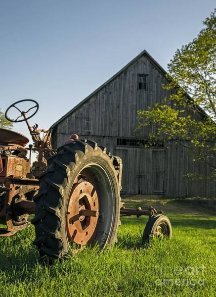 Tractor Photograph - Day Is Done by Edward Fielding