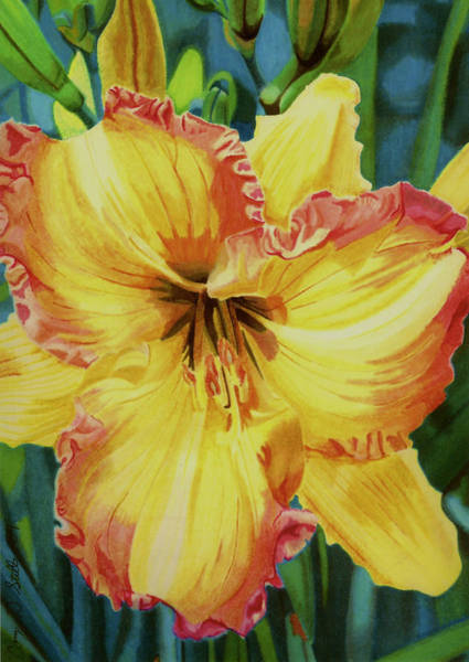 Marker Drawing - Day Lily by Cory Still