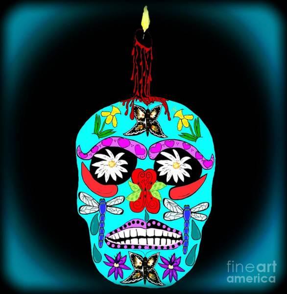 Wall Art - Photograph - Day Of The Dead Sugar Skull by Eva Thomas