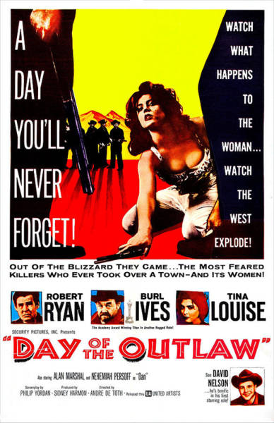 Wall Art - Photograph - Day Of The Outlaw, Us Poster, Tina by Everett
