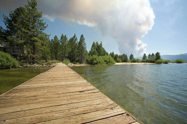 Wall Art - Photograph - Day One Of The Angora Fire In South by Justin Bailie