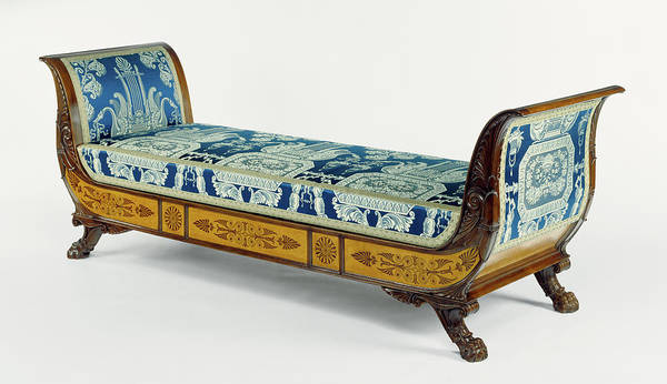 Maple Drawing - Daybed Gabriele Capello, Italian, 1806 - 1876 by Litz Collection