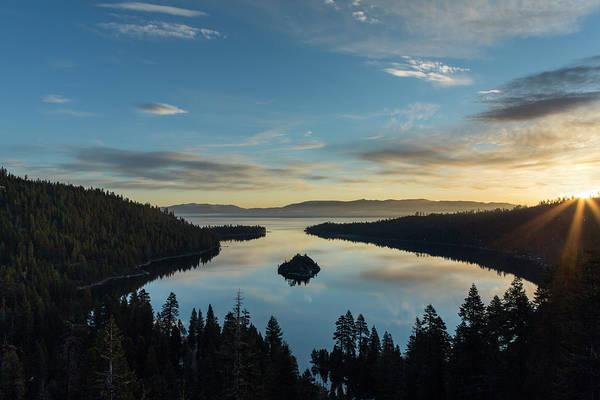 Lake Tahoe Photograph - Daybreak At Emerald Bay by Don Cook