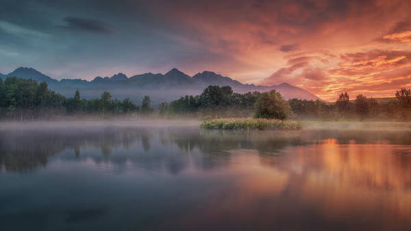 Slovakia Photograph - Daybreak By The Lake by Peter Svoboda, Mqep
