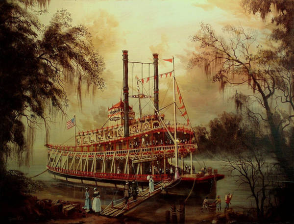 Old South Painting - Daybreak On The River by Tom Shropshire