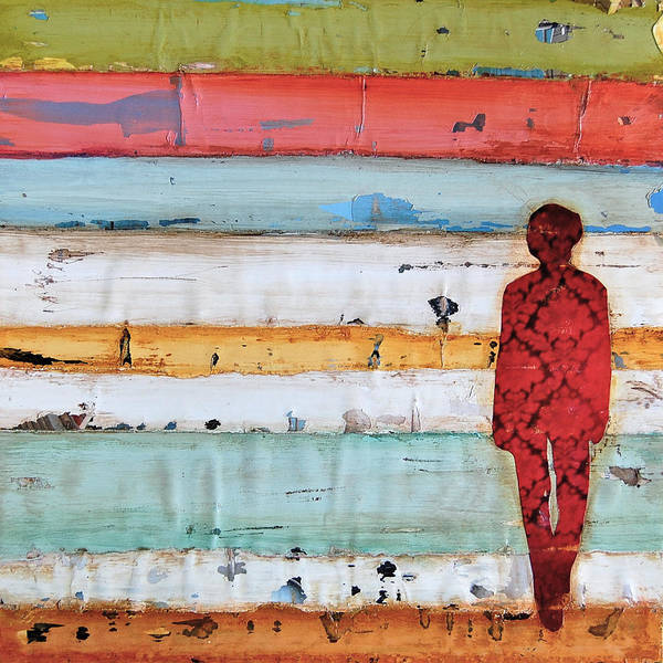 Beach Collage Painting - Daydreaming At Sunset by Danny Phillips