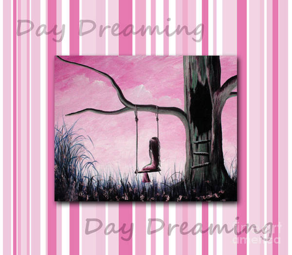 Faceless Painting - Daydreaming In Pink By Shawna Erback by Erback Art