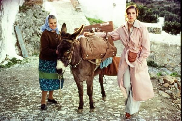Luggage Photograph - Dayle Haddon Wearing John Anthony by Jacques Malignon