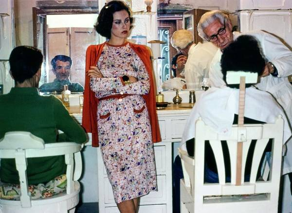 Groom Photograph - Dayle Haddon Wearing Missoni by Jacques Malignon