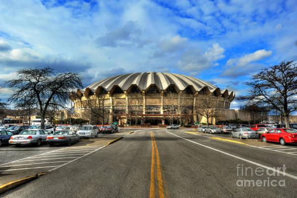 Daylight Of Wvu Basketball Coliseum Arena Art Print