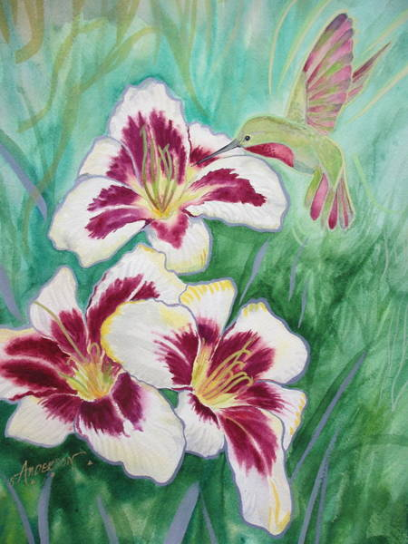 Painting - Daylily by Sherri Anderson