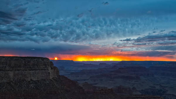 Photograph - Days End At The Grand Canyon by John M Bailey