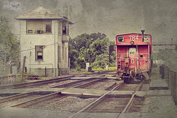 Red Caboose Photograph - Days Gone By by Donald Schwartz