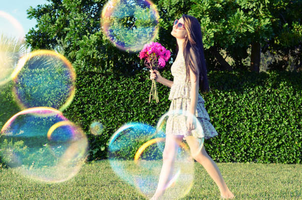 Colored Bubbles Photograph - Days Like These by Laura Fasulo