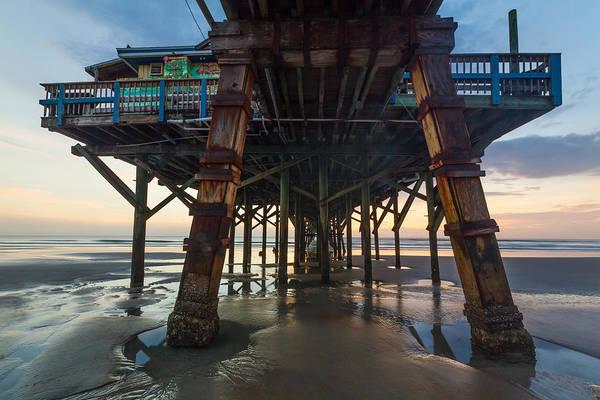 Daytona Beach Shores Pier Art Print