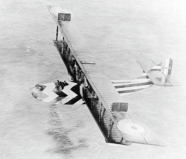 Seaplanes Photograph - Dazzle Painted Flying Boat by Us Navy/science Photo Library