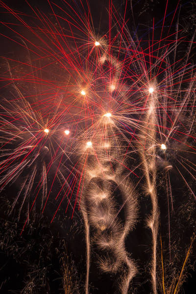 Fireworks Display Wall Art - Photograph - Dazzling Fireworks by Garry Gay