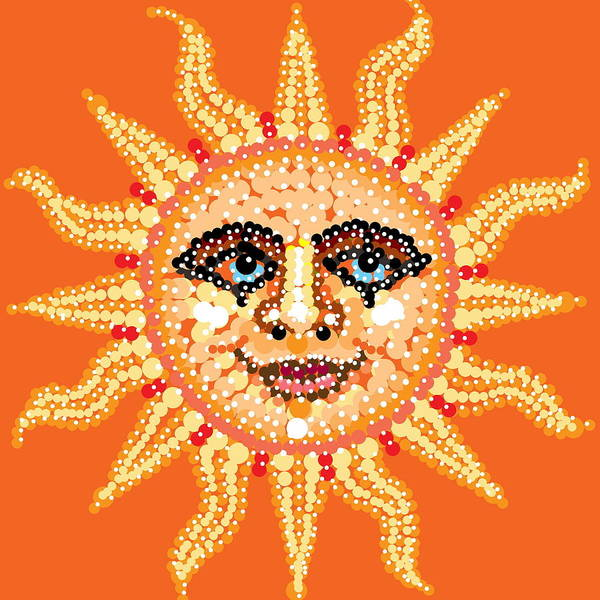 Digital Art - Dazzling Sun by R  Allen Swezey