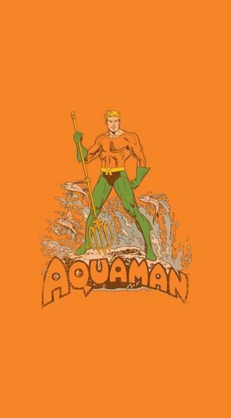 Aquaman Digital Art - Dc - Aquaman Distressed by Brand A
