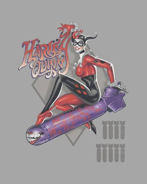 Harley Quinn Wall Art - Digital Art - Dc - Harleys The Bomb by Brand A