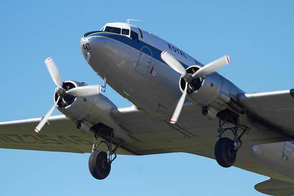 Vintage Airplane Photograph - Dc3 (douglas C-47 Dakota by David Wall