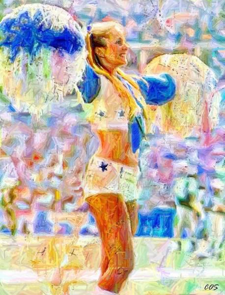 Cheerleaders Digital Art - Dcc Legend Tb by Carrie OBrien Sibley