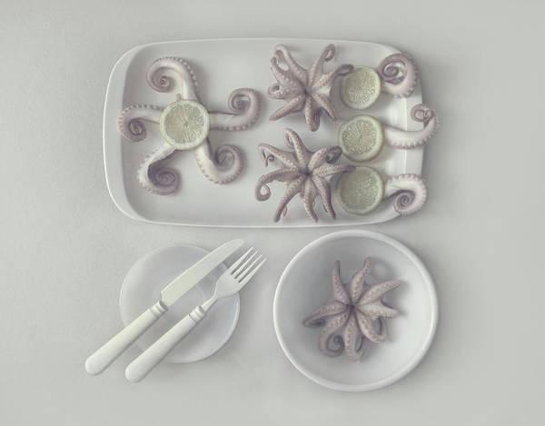 Dinner Photograph - D?ctopus...2 by Dimitar Lazarov -