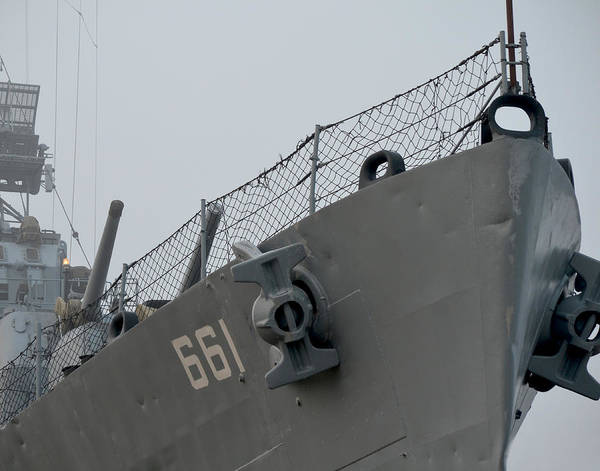 Photograph - Dd-661 Nose With Anchors by Maggy Marsh