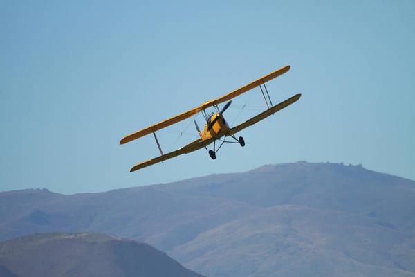 Vintage Airplane Photograph - De Havilland Dh 82a Tiger Moth Biplane by David Wall
