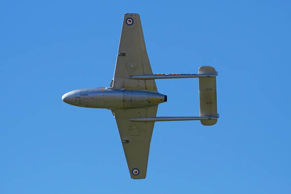Vintage Airplane Photograph - De Havilland Vampire Jet Attack Aircraft by David Wall